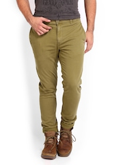 Roadster Men Khaki Torino Slim Fit Trousers