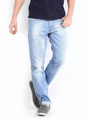 Roadster Men Light Blue Corvette Slim Fit Jeans