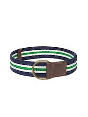 Roadster Men Navy & Green Striped Belt