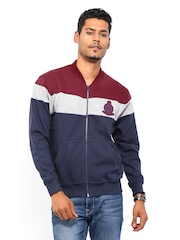 Roadster Men Navy & Maroon Sweatshirt