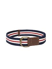 Roadster Men Navy & Red Striped Belt