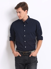 Roadster Men Navy Alonso Shelby Slim Fit Casual Shirt