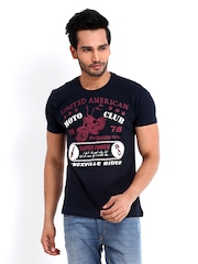 Roadster Men Navy Bike Print T-shirt