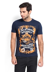 Roadster Men Navy Bike Printed T-shirt