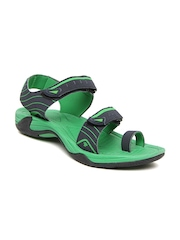 Roadster Men Dark Blue & Green Sports Sandals