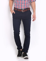 Roadster Men Navy Torino Slim Fit Chino Trousers