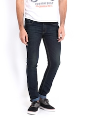 Roadster Men Navy Camaro Skinny Fit Jeans