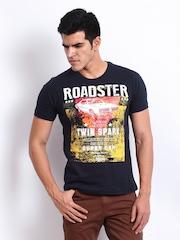 Roadster Men Navy Roadster Printed T-shirt
