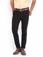Roadster Men Black Bandy Torino Slim Fit Trousers
