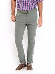 Roadster Men Grey Bandy Torino Slim Fit Trousers
