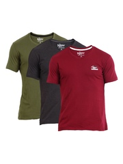 Roadster Men Pack of 3 T-shirts