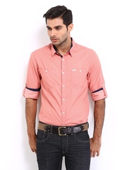 Roadster Men Pink Jules Shelby Slim Fit Casual Shirt