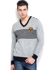 Roadster Men Grey Melange Sweater