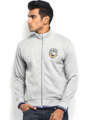 Roadster Men Grey Melange Sweatshirt