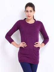 Roadster Women Purple Sweater Tunic