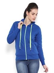 Roadster Women Blue Padded Hooded Sweatshirt