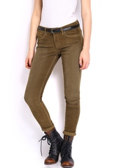 Roadster Women Brown Skinny Fit Corduroy Trousers