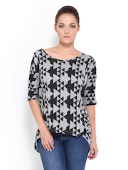 Roadster Women Grey & Black Top