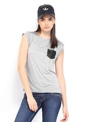 Roadster Women Grey Melange Top