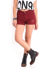 Roadster Women Maroon Hot Shorts