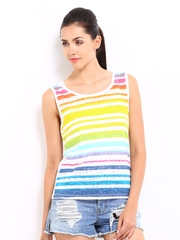 Roadster Women Multi-Coloured Striped Top