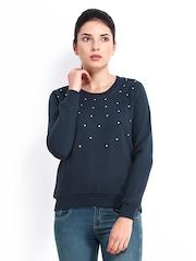 Roadster Women Navy Sweatshirt