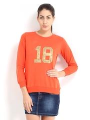 Roadster Women Orange Sweatshirt