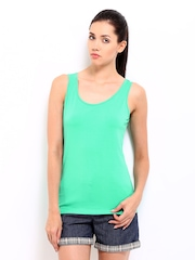 Roadster Women Green Tank Top