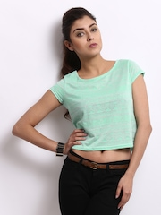 Roadster Women Mint Green Printed Top