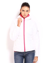 Roadster Women White Hooded Padded Jacket