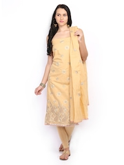 Rooptex Beige Cotton Unstitched Dress Material