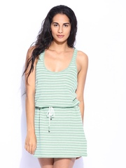 Roxy Green & White Striped Jersey Dress