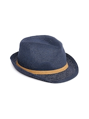 Roxy Women Blue Fedora Hat