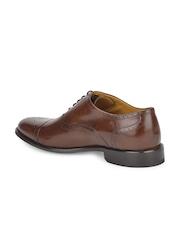 Ruosh Work Classic Men Brown Burnish Finish Oxford Shoes