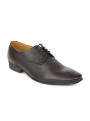 Ruosh Work Contemporary Men Brown Milled Finish Leather Derby Shoes