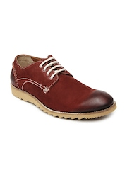 Ruosh Casual Men Red Leather Boots