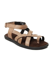 Ruosh Men Brown Leather Sandals