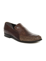 Ruosh Casual Men Brown Leather Slip-On Shoes