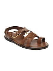 Ruosh Men Tan Leather Sandals