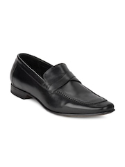Ruosh Occasion Men Black Slip On Shoes