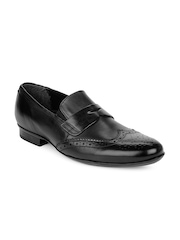 Ruosh Work Classic Black Men Formal Leather Shoes