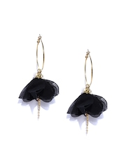 SALT Gold-Toned & Black Drop Earrings
