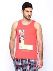 SDL by Sweet Dreams Men Pink Printed Innerwear Vest F-MT-0270