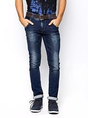 Spykar Men Navy Tight Fit Jeans