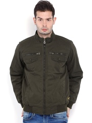 SPYKAR Men Olive Green Padded Jacket