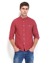 STANLEY KANE Men Red Classic Fit Casual Shirt