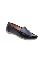 STEPpings Women Black Loafers