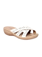 STEPpings Women White Sandals
