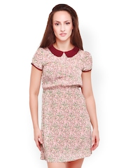 STREET 9 Pink Printed Fit & Flare Dress