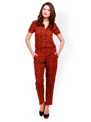 STREET 9 Women Red & Yellow Printed Jumpsuit